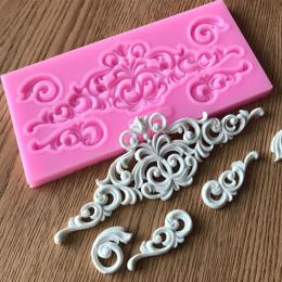 Gorąca Sprzedaż DIY craft Cukier Ciasto Rocznika Relief Granicy Silikonowe Formy Kremówka Mold Ciasto dekorowanie Narzędzia Gum