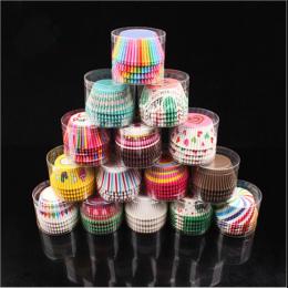 100 SZTUK Babeczki Papierowe Pudełka Cupcake Obwolut Pieczenia Kubki Przypadki Muffin Ciasto Puchar Ciasto Dekorowanie Narzędzia