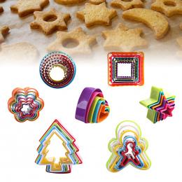 5 sztuk/zestaw Serce Cookies Cutter Formy Plastikowe Ciasto Mould Ciastka Tłok Formy Na Ciasteczka Ciasto Dekorowanie DIY Narzęd