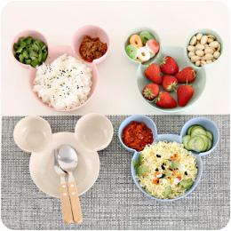 Carrywon Dzieci Dzieci Cute Cartoon Myszy Miska Naczynia Karmienia Dziecka Miska Obiad Obiad Pojemnik Na Żywność