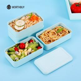 WORTHBUY Japoński Mikrofalowa Lunch Box Dla Dzieci Przenośne Szczelne Szkoły Bento Box Słomy Pszenicy Dzieci Żywności Pojemnik B