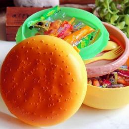 1000 ml Podwójne Plastikowe Dzieci Hamburger Bento Lunch Box Żywności Pojemnik z Widelec Izolacji Lunch Box Bento Pojemnik