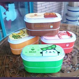 Wysoka Jakość Cartoon Zdrowe Plastikowe Lunch Box 600 ml Pudełka Bento Żywności Pojemnik Obiadowy Lunchbox Sztućce