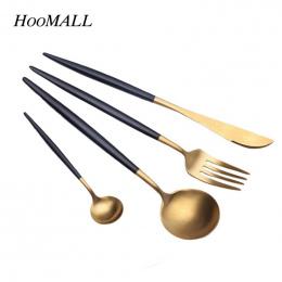Hoomall 4 sztuk/zestaw Zestaw obiadowy Ze Stali Nierdzewnej Sztućce Obiad Naczynia Kuchenne Akcesoria Zachodniej Widelec Zestaw