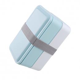 3 Kolory 1000 ml Podwójna Warstwa Lunch Box Lunchbox Pojemnik Do Przechowywania Żywności Kuchenka Mikrofalowa Bento box Obiadowy