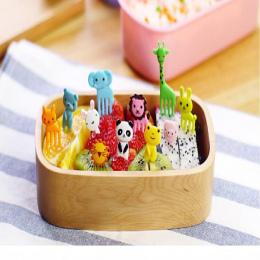 Nowy Przyjazd Mini Zwierząt Cartoon Znak Bento Żywności Widelec Owoce Pick Obiady Party Decor Stołowe Naczynia Warzyw 10 sztuk/z