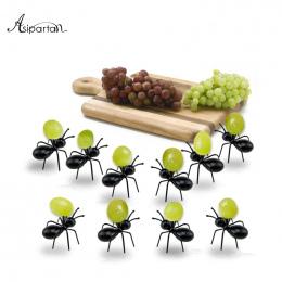 Asipartan 12 sztuk/zestaw Kawaii Ant Owoców Widelec Owoców Widelec Wielokrotnego Użytku Wielokrotnego Użytku Przekąski Ciasto De