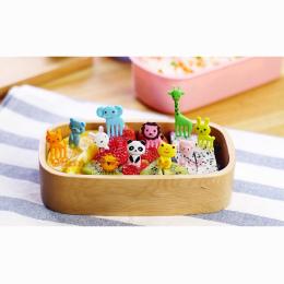 10 sztuk/zestaw Animal Farm mini cartoon owoców widelec znak żywicy owoce wykałaczka bento lunch dla dzieci dekoracyjne z tworzy