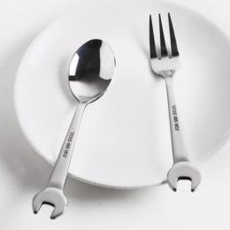 Kuchnia Żywności Wybiera Ze Stali Nierdzewnej Klucz Widelec Łyżka Obiad Owoce Deserowe Długi Sztućce Widelce Narzędzie Piknik Be