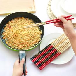 Nowy 1 Para Super Long Gotować Makaron Deep Fried Gorący Garnek Tradycyjny Chiński Styl Pałeczki Bambusa Restauracja Główna Kuch