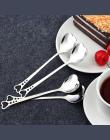 Nowy Kształt Serca Ze Stali Nierdzewnej Kawy Łyżka Deser Cukru Mieszanie Łyżką Lodów jogurt Miodu Łyżka Kuchnia Hot Prezent