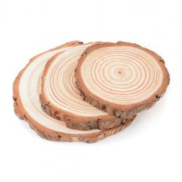 5 rozmiary Naturalne Drewniane Okrągłe Kromka Cup Mat Coaster Kubek Kawy i Herbaty Uchwyt na Napoje DIY Stołowe Decor Trwałe