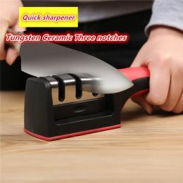 Dropshipping Szybkie Temperówka Noży Profesjonalne 3 Etapy Noża Szlifierka Do Ostrzenia Antypoślizgowe Gumy Silikonowej
