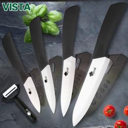 Noże ceramiczne noże Kuchenne 3 4 5 6 cal nóż Szefa Kuchni Gotować Zestaw + obierak białym cyrkonu blade Multi- uchwyt kolor Wys