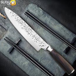 Nóż kuchenny 8 cal Profesjonalne Japoński Kucharz Noże 7CR17 440C Wysokiej Węgla Mięsa Ze Stali Nierdzewnej Nóż Santoku Dropship