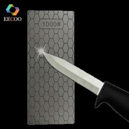 EECOO Profesjonalne 400 lub 1000 Cienka Diament Kamień Do Ostrzenia Noży Diamentowa Płyta Osełka Nóż Do Ostrzenia Szlifierka Gła