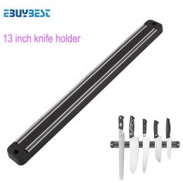 Wysokiej Jakości 13 cal Magnetyczny Uchwyt Do Montażu Na Ścianie Czarny ABS metalu Nóż Nóż Do Placstic Bloku Magnes Uchwyt Noża