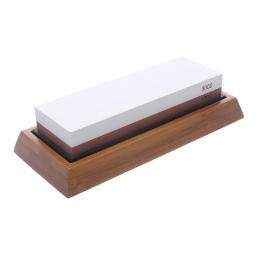 Profesjonalny Nóż Kuchenny Ostrzenia Kamień Dwustronnie Biały Korundu Osełka Grindstone Japoński Ostrzenie Narzędzia Bambusa Baz