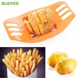 RLJLIVES 1 Pc Ziemniaków Slicer Cutter Chopper Chips Dokonywanie Narzędzie Ze Stali Nierdzewnej Francuski Fry Fries Cutter Ziemn