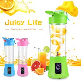 400 ml Przenośne Blender Sokowirówka Cup USB Akumulator Elektryczny Automatyczny Warzyw Owoców Cytrusowych Pomarańczowy Sokowiró