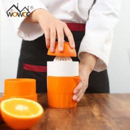 WOWCC Portable Instrukcja Cytryny Sokowirówka Mini Owoce Sokowirówka Ręczna Prasa Lemon Pomarańczowy wyciskacz Wyciskarka Do Cyt