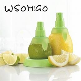 2 Sztuk/zestaw Zielony Lemon Wapno Sokowirówka Cytrusowe Spritzer Opryskiwacz Sok Owocowy Gadżety Kuchenne Spray Instrukcja Soko