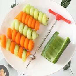 ANDES Instrukcja Roller Narzędzia Warzyw Frez Spiralny Krajalnica Spirali Ziemniaków Rzodkiewka Akcesoria Kuchenne Owoców Carvin
