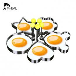 FHEAL 5 sztuk/zestaw Ze Stali Nierdzewnej Słodkie Kształcie Jajkiem Mold Naleśnik Pierścienie Mold Narzędzie Kuchnia