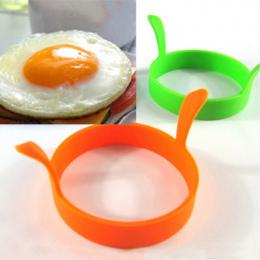 Hot 1 Pc Losowy Kolor DIY Okrągły Śniadanie Silikonowa Jajko Naleśnik Formy Narzędzia Kuchenne Akcesoria kuchenne