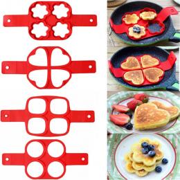 4 style Silikonowe Nonstick Pancake Egg Pierścień Ekspres Naleśniki Ser Kuchenka Jaj Pan Klapki Jaj Formy Do Pieczenia Akcesoria