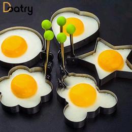 5 sztuk/zestaw Smażenia Jajko Jajko Formy Herbatniki Ze Stali Nierdzewnej Pierścienie Formy 5 Kształt Egg Pancake Pierścień Omle