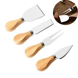 Uarter 4 sztuk Drewniany Uchwyt Noże Ser Zestawy Wysokiej jakości Sera Zestaw Narzędzi Do Cięcia Sera Nóż Krajalnica Cutter