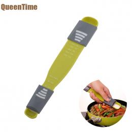 QueenTime wielofunkcyjny Miarka Zielony Podwójna Głowica Przyprawy Łyżki Osiem Stragany Regulowany Skala Kuchnia Gotowanie Narzę