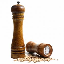 8 cali Vintage Drewniane Instrukcja Młynek Do Pieprzu Sól I Przypraw Młyn Kuchnia Narzędzia Szlifowania Rdzeń Ceramiczny Szlifie