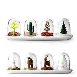 Cztery Sezony Roślin Spice Jar 4 sztuk/zestaw Kreatywny Zwierzęta Butelki Przyprawy Pieprz Sól Cukier Narzędzia Kuchenne Dostaw