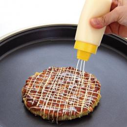 Y145 sałatkowy Ketchup sos Wycisnąć 300 ml 4 hole Flaszka butelka Dozownik Butelki Kuchenne Akcesoria kuchenne narzędzia kuchenn