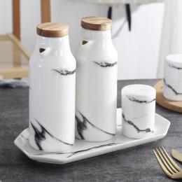 Ceramiczne Sól I Pieprz Zestaw Porcelany Oliwek Olej Sojowy Przyprawy Butelki Octu Butelka Oleju ślub sprzyja Kuchenne Narzędzia