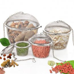1 pc Kuchnia Wielokrotnego Użytku Ze Stali Nierdzewnej Mesh Tea Ball Filtr Infuser Sitko Ziołowe Przyprawy Zupa Gulasz Teabags K
