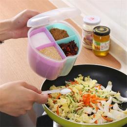 DoreenBeads Losowy Kolor Plastikowe Pudełko Do Przechowywania Przechowywania Pole Narzędzia Kuchenne Przyprawy Słoik Przyprawy P