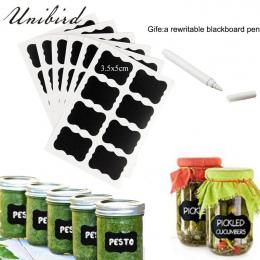 Unibird 32 sztuk/zestaw Tablica Etykiety z Białym Ciecz Chalk Kuchnia Przyprawy Słoiki Organizator Etykiet Wielokrotnego Zapisu