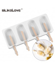 Homemade Food Grade Silicone Ice Cream Formy 2 Rozmiar Lody na patyku Formy Zamrażarka lodów bar Formy Ekspres Z Loda kije