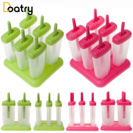 6 Sztuk Lody Popsicle Formy Narzędzia Kuchenne Wielokrotnego Użytku DIY Mrożone Ice Cream Pop Formy Do Pieczenia W Kształcie Pro