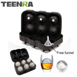 1 sztuk Duży Rozmiar 6 Komórek Kulki Lodu Formy Silikonowe Ice Cube Ball Tacy Whisky Ice Ball Maker 6 Silikonowe formy Maker Dla