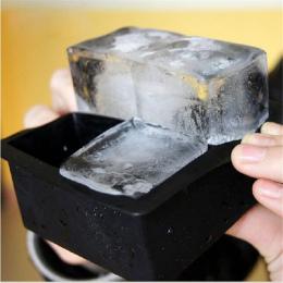 Piękne zwierzę 4-Jamy Duże Silikonowe Drink Ice Cube Galaretki pudding Mydło Formy Formy Tacy Narzędzie sep930 Lato Hot