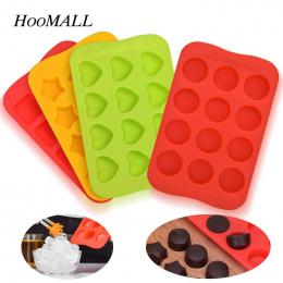 Hoomall Ice Cube Tray 100% Food Grade Silicone Mold Czekolada Mould 12 Siatki Miękkie Galaretki Pudding Formy Kostki Lodu Ekspre