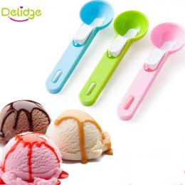 Delidge 1 pc Kolorowe Lody Łyżka Żywnością Plastikowe Lody Kulkowe Arbuz Owoce Kopanie Kopać Kulisty Kształt krem