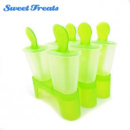 Sweettreats Lolly Mould Taca Pan Kuchnia 6 Komórek Mrożone Kostki Lodu Formy Popsicle Maker DIY Lody Narzędzia