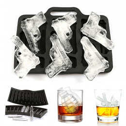 Ice Cube Maker War Pistolet Kula Kształt Ice Cube Tray DIY Ice Cream Maker Ice Cube Mold Kuchnia Bar Party Akcesoria Do Picia