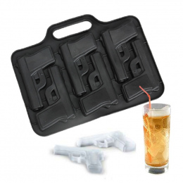 1 PC Pistolet Kula Kształt Ice Mold Taca Ice Cream Maker Lodu Formy dla Koktajl Whisky Kitchen Bar Akcesoria Do Picia