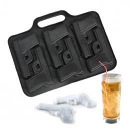 1 PC Pistolet Kula Kształt Ice Mold Taca Ice Cream Maker Lodu Formy dla Koktajl Whisky Kitchen Bar Akcesoria Do Picia